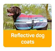 Reflective dog coats